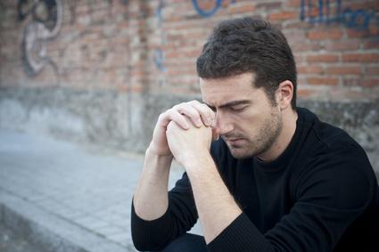 man grieving