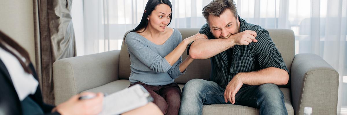sad angry couple